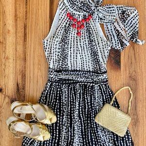 Armani Exchange Black and White Polka Dot Dress